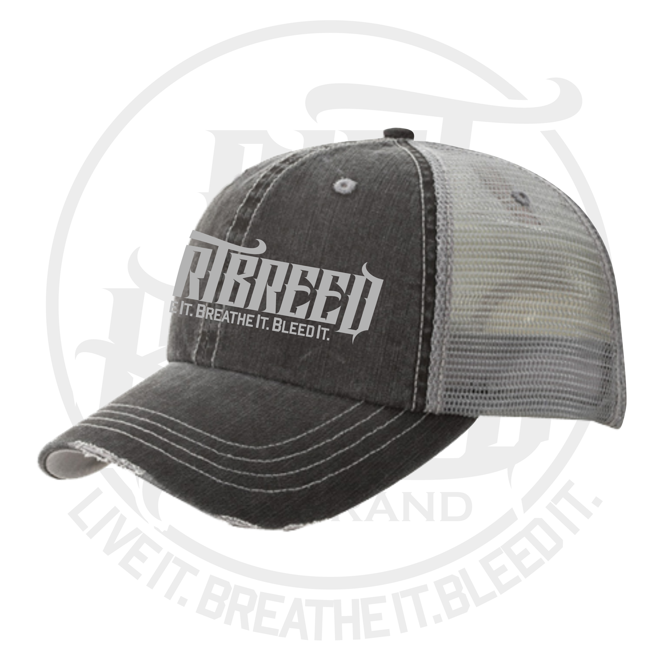 DirtBreed Distressed Dirt Track Racing Trucker Hat