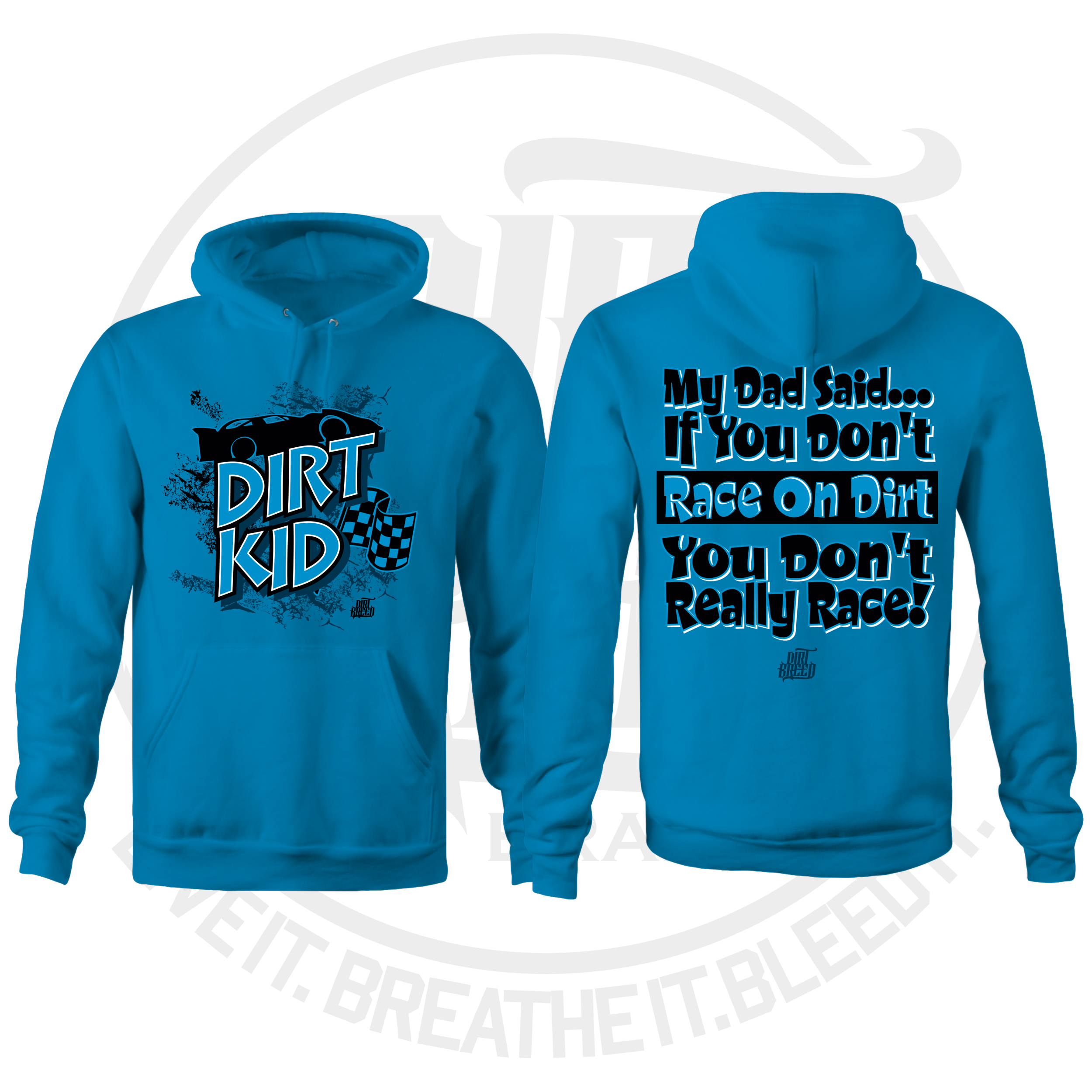 DirtKid Dirt Track Racing Kids Hooded Sweatshirt
