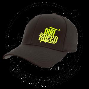DirtBreed Dirt Track Racing Flexfit Hat Black Neon Yellow