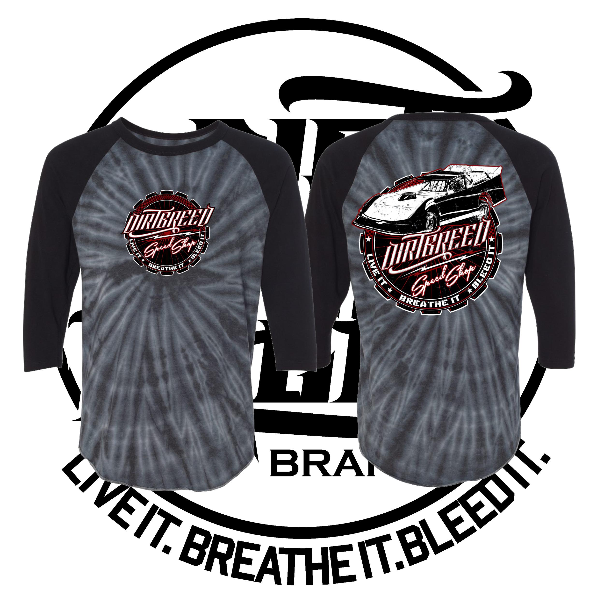 DirtBreed Speed Shop Tie Dye Dirt Track Racing Shirt