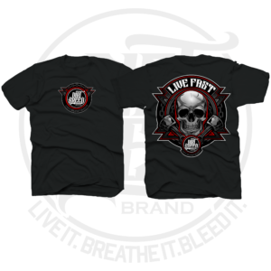 DirtBreed Lifestyle Dirt Track Racing Apparel Live Fast Skull T-Shirt