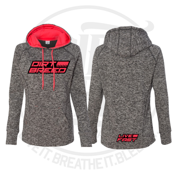 Ladies Dirt Track Racing Dri fit Hoodie
