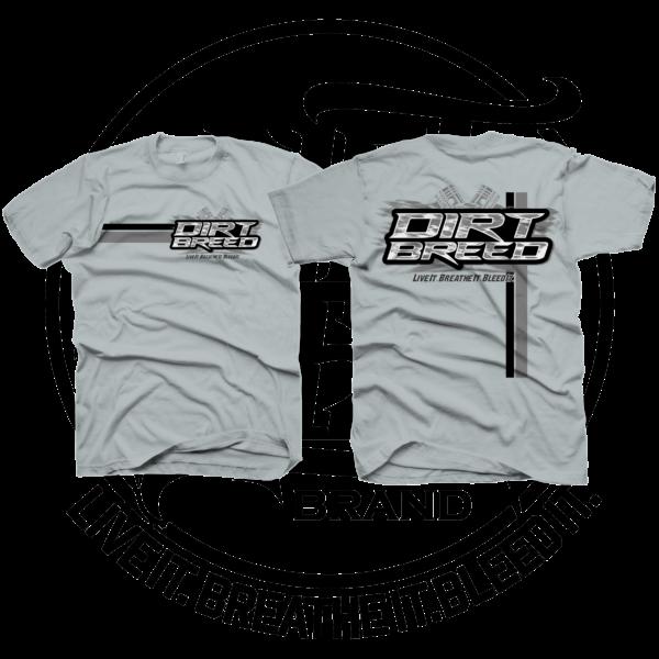 DirtBreed Unisex Racing Shirt Racing Pistons Sport Gray Racing Stripe