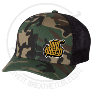 DirtBreed Dirt Track Racing Trucker Hat Military Camo