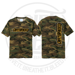 DirtBreed Unisex Racing Shirt Military Camo Dirt Track Racing Shirt