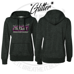 DirtBreed Girls Dirt Kid Glitter Hoodie Track Racing Shirt