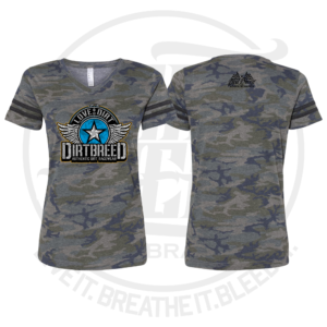 DirtBreed Ladies Assault Camo Dirt Track Racing Shirt