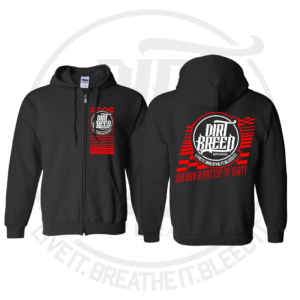 DirtBreed Unisex Racing Shirt Nation of Dirt Zip up Hoodie