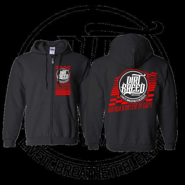 DirtBreed Unisex Racing Shirt Nation of Dirt Zip up Hoodie