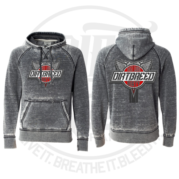 DirtBreed Unisex Racing Shirt Washed Hoodie Retro Logo